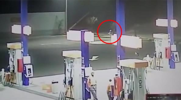 加油站监控视频拍到外星人 专家表示视频画面可能是真的