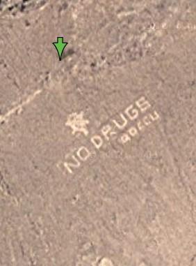 阿富汗 绝毒品(No Drugs)的巨大标志