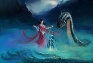 女娲真身吓人图片大全,人首蛇身的诡异存在真可怕