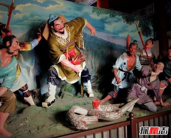 汉高祖刘邦斩白蛇的故事,秦朝灭亡的征兆(刘邦推翻秦朝)