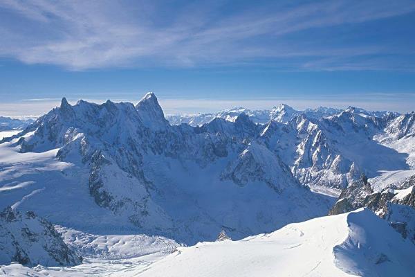 阿尔卑斯山脉最高峰是什么峰?勃朗峰(海拔高4810米)