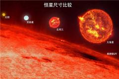 红超巨星有多大 没有具体大小大约是太阳100倍大