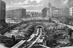 世界上第一条地铁 英国伦敦1863年的大都会地铁(长度6公里)