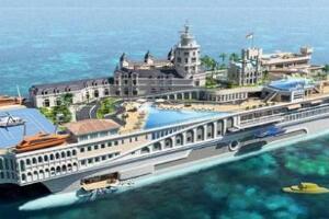 世界最豪华的游艇,超级游艇漂浮版摩纳哥(价值10亿美元)