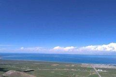 中国最大的咸水湖:青海湖,约4583平方公里