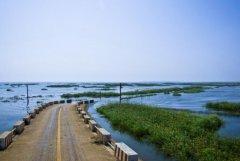 中国最大的淡水湖:鄱阳湖,约4070平方千米