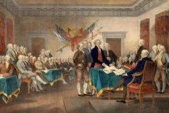 美国独立宣言是哪一年颁布的:1776年7月4日(美国独立日)