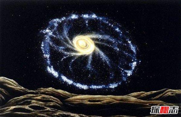车轮星系之谜,巨大的车轮居然是被撞出来的