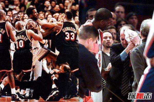 盘点NBA史上15大斗殴事件,麦迪逊斗殴事件十人被驱逐