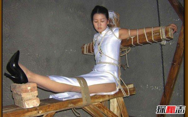 不见血的酷刑:老虎凳,让你膝盖骨直接断裂