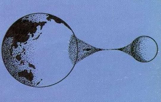 月球分裂图片