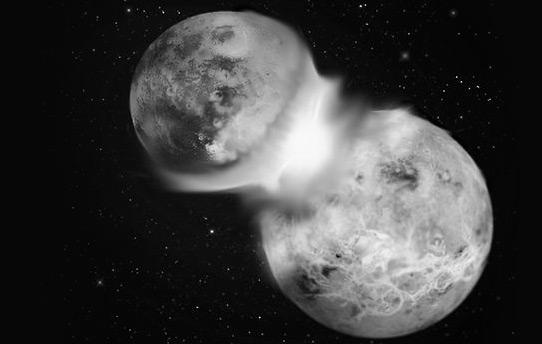 月球撞击说图片