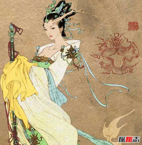 神话传说人物龙女,与人类男性婚恋的异类女性(最早源于佛教)