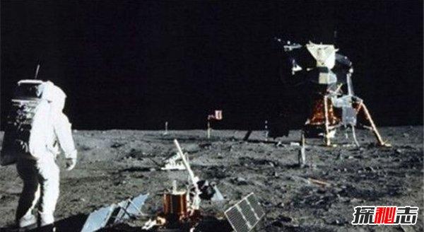 中国玉兔证明美国登月是假的,美国国旗都不见了