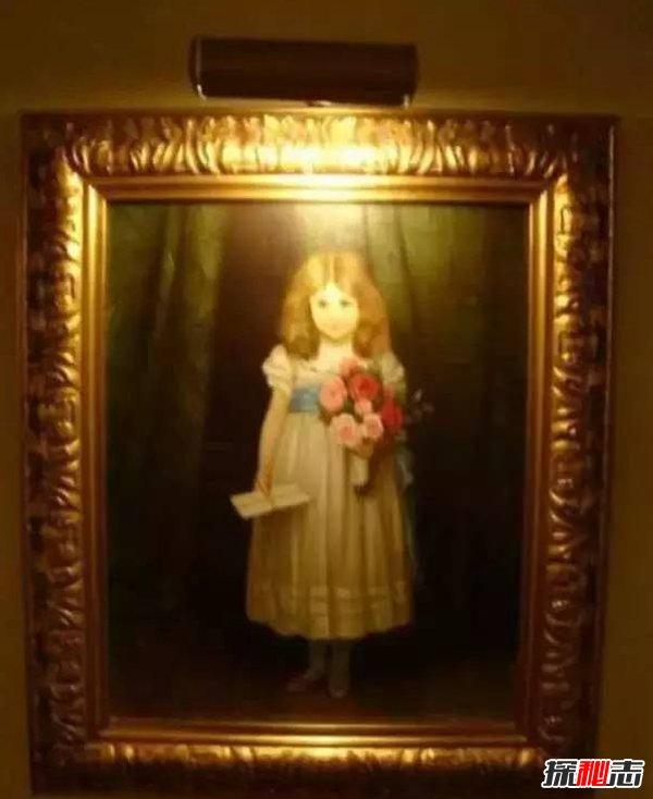 世界上五副最诡异的画,小女孩的画像让你头晕目眩