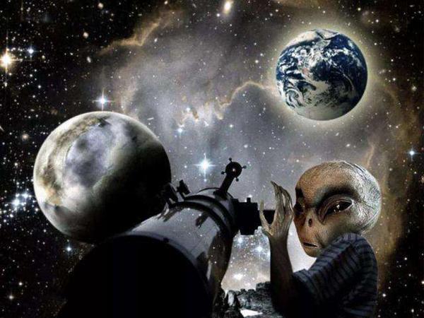 外星人来过地球吗图片