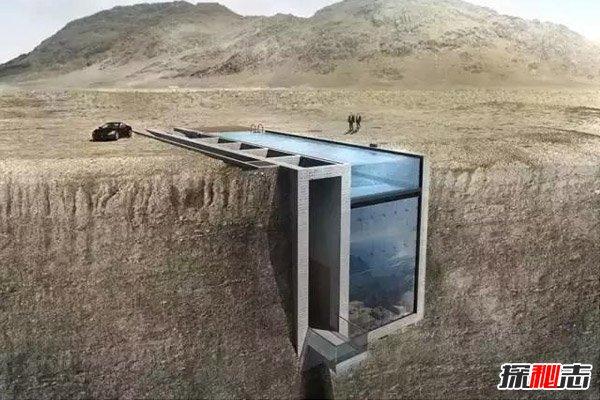 悬崖上的别墅图片