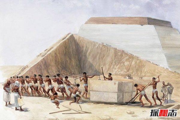 金字塔建造方法图片