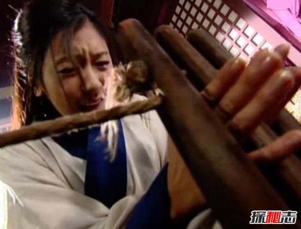 古代逼供女犯的夹手指刑具(十指连心残忍至极)