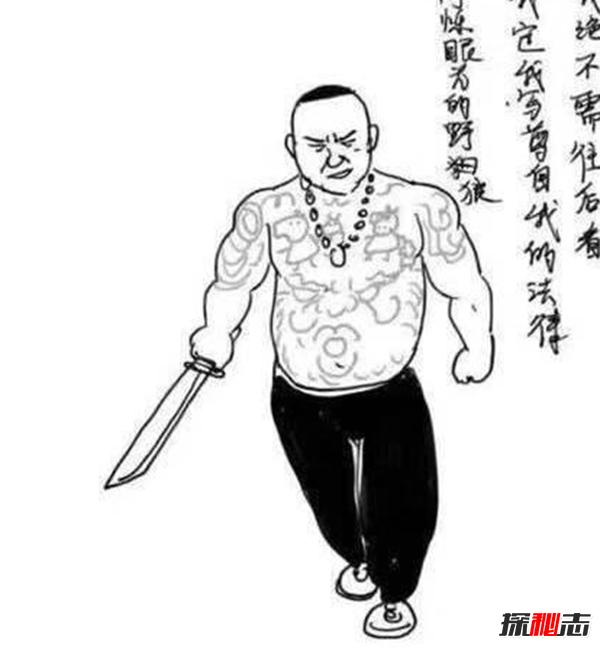 天安社在短视频快手上坐拥数百万忠实粉丝,其光膀子纹身成为天安社