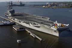 世界上最长的航空母舰:最高排水量达8.79万吨(长330米)