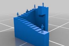 潘洛斯阶梯真的存在吗?实际上是视错觉(只存在二维)