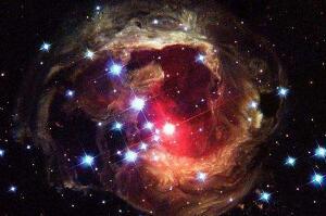 麒麟座v838变星有多大,2002年麒麟座v838变星爆炸/银河系最亮恒