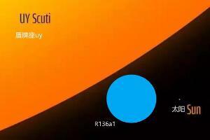 宇宙十大特超巨星,R136a1恒星质量最大/盾牌座UY体积最大
