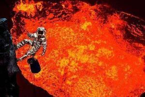 人掉进岩浆多久会死,最多20秒必死(头部进岩浆马上死)