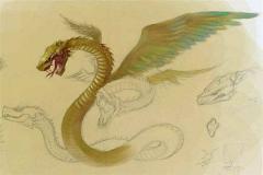 山海经排行第四奇兽藤蛇 原型是龙和蛇的结合(腾云驾雾)