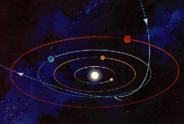 哈雷彗星周期76年图片