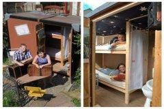 世界上最小的旅馆 用旅行箱改造而成(仅能住2人)