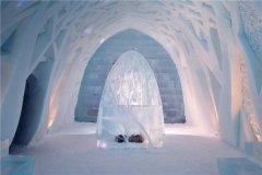 世界上最大的冰建筑物 瑞典冰旅馆(相当壮观的建筑)