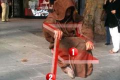 人体漂浮揭秘:印度悬浮座椅,魔术玻璃板支撑(手动操作)