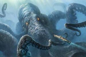 深海巨兽挪威海怪,体长100米的恐怖八爪怪(海盗克星)