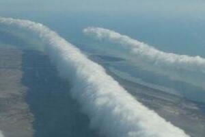 自然奇观世间罕见的管状云,大自然的鬼斧神工(惊掉下巴)
