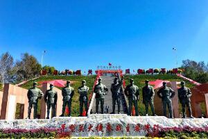 平型关十大将军雕塑:2个元帅,1个大将,4个上将