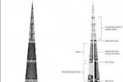 日本最高的建筑:日本东京千年塔,高840米(总共170层)