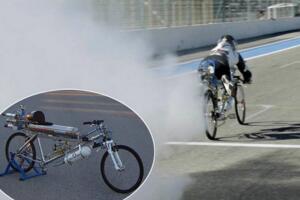 世界上最快的自行车,火箭自行车完爆法拉利(333km/h)