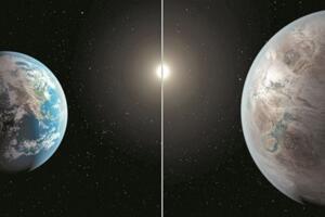 第二地球开普勒452b,距地1400光年是地球的1.6倍(图片)