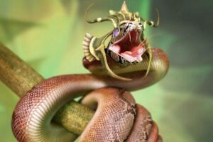 绿茸线蛇的寿命有多长,寿命20万年已活1687岁(小说杜撰)