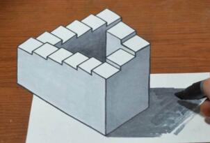 潘洛斯阶梯是真的吗?三维空间中根本构造不出来(错觉)