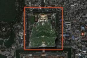 北京景山公园人像之谜,公园惊现神秘盘坐人像(未解)