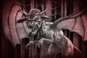 神秘生物新泽西魔鬼,狗的头马的脸长有蝙蝠翅膀(五不像)